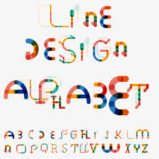 26 letters vector creative pattern 26 Letters Spell Color