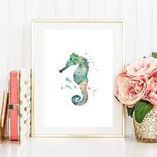 din a4 kunstdruck ungerahmt seepferdchen seahorse maritim
