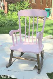 Dorel Rocking Chair With Ottoman by Pretty Painted Rocking Chair A Beautiful Baby Gift
