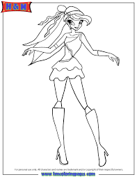 Bloom Fairy Of The Dragon Flame Coloring Page