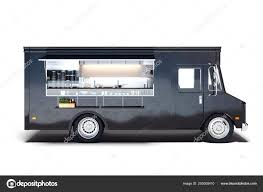 100 Where To Buy Food Trucks Black Realistic Food Truck Isolated On White 3d Rendering