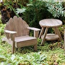 Fairy Garden Miniature Adirondack Table Weathered Dimensions Tall X 2 DiameterMaterial Wood Chair Not Included Available For Purchase Below
