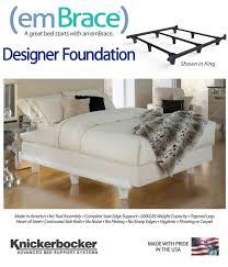 amazon com embrace polymer resin heavy duty luxury metal bed