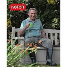Plastic Garden Storage Bench Seat by Amazon Com Keter Eden 70 Gallon All Weather Outdoor Patio
