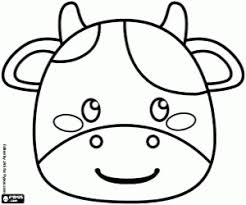 A Cow Mask Coloring Page Printable Game