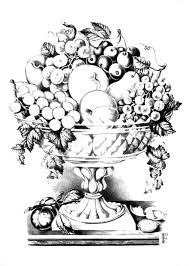 Coloring Pages Fruit Bowl