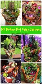 DIY Broken Pot Fairy Garden Ideas Picture Instructions