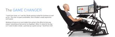 Reclining Gaming Chair With Footrest by Ergonomic Workstation U0026 Gaming Cockpit Obutto