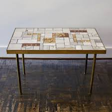 Marble Coffee Table With Brass Frame 1985 For Sale At Pamono