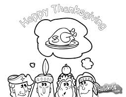 Thanksgiving Dinner With Indians Coloring Page