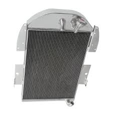 100 1936 Chevy Truck Parts 3 Row Aluminum Radiator For 1935 Chevrolet Pickup 34L V8