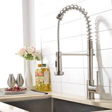 Bar Faucet Brushed Nickel by Vapsint High Arch Commercial Single Handle Stainless Steel Pre