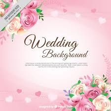 Realistic Roses With Leaves Wedding Background Free Vector