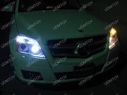 mercedes glk350 with xenon white led eyelids and led parking
