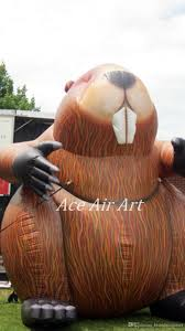 Halloween Inflatable Archway Tunnel by 4 Metters Tall Giant Inflatable Beaver Inflatable Caster Fiber