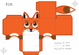 Fox Paper Craft By Veavictis