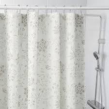 tyckeln duschvorhang weiß dunkelbeige 180x200 cm