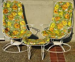 rare pair homecrest rocking lounge chairs and ottoman w original