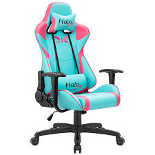 JUMMICO Gaming Chair Adjustable Racing Chair Halo Series Specialty Design  Ergonomic Comfortable Swivel Computer Chair With Headrest And Lumbar  Support ...