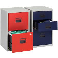 3 drawer locking a4 filing cabinet pfa3 red