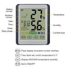 usw choelf thermometer hygrometer digitales innen mit wecker