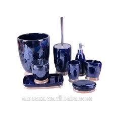 bling luxus design elegante blaue farbe 8 stück keramik bad set buy keramik bad set keramik wc pinsel wc bürste und halter bule bad set wc pinsel