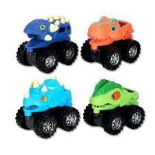 100 Dino Trucks Wheels Monster 4 Pack Toyworld