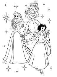 Coloring Pages Princess Disney Printable Pictures Channel Print Out