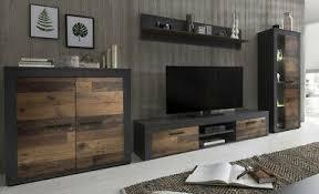 anbauwand grafit wood wohnzimmerschrank tv wohnwand 3940 ebay
