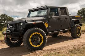 Starwood Motors To Showcase Newly Designed Custom Jeep At 2016 ... Jeep Wrangler Truck Cversion Meet The Jk Crew The Is Our Bruiser Extra Cab And Truck Cversion Sema 2016 Youtube Custom Jk8 Chinese Brand G Patton Unveils 6x6 For 2006 Rubicon Rubitrux Red Carsworldwebsite Bandit 700hp Hemipowered Pickup Of Dreams Aev Brute Pickup Kit For Tj Ok4wd By Hicsumption Strut Rides Magazine