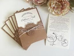 Rustic Theme With Laser Cut Pocket Wedding Invitations Sydney