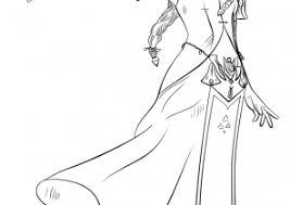Zelda Coloring Pages Princess Coloring4free