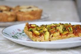 tarte à la courgette pâte à la farine de pois chiches sans