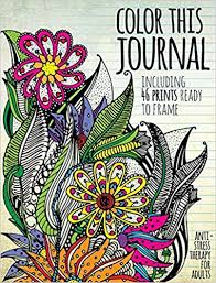 Color This Journal Anti Stress Therapy For Adults Media Lab Books 9781942556374 Amazon
