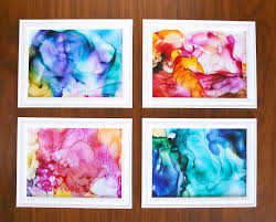 This Fired Alcohol Ink Art Is So Cool Its Easy Enough For Kids To Do