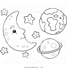 Royalty Free Stock Astronomy Designs Of Coloring Book Pages