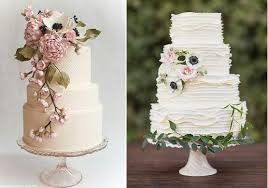 Botanical Wedding Cakes By Andrea Nicholas Left And The Cakewalk Bake Shop