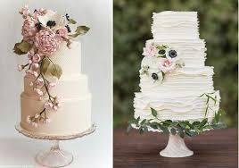 Botanical Wedding Cakes By Andrea Nicholas Left And The Cakewalk Bake Shop