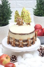 bratapfeltorte mit lebkuchen und frischkäse buttercreme weihnachtliche torte
