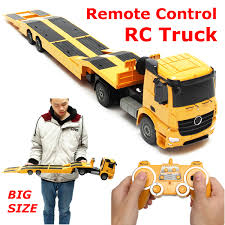 100 Remote Control Semi Truck With Trailer RC Flatbed Kid Electronics Hobby
