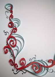 Quilled And Calligraphic Border