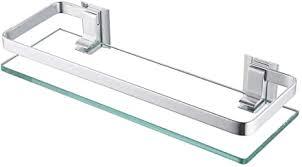 kes glasregal duschablage duschregal glas 8mm ablage dusche glasablage für badezimmer wandregal badregal wandmontage aluminium silber a4126a