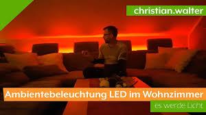 ambientebeleuchtung led im wohnzimmer selber bauen