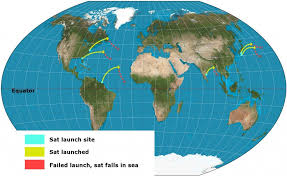 World Map Rocket Launch Sites