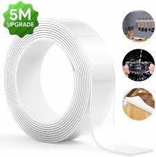 5m wasserdichtes doppelseitiges klebeband waschbares spurloses entfernbares transparent klebeband starke klebekraft für wände küche