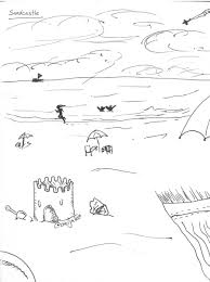 4 Sandcastle Drawing Doodle Drawingprompts Beach