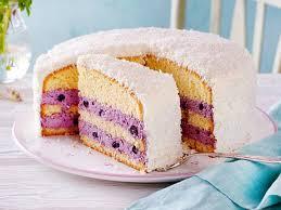 kokos heidelbeer torte