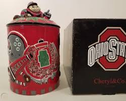 NIB Cheryl's Cookie Ohio State University Cookie Jar Brutus ...