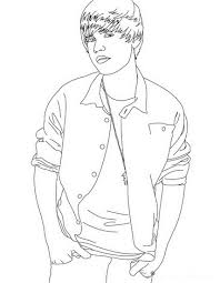 Printable Coloring Pages Of Justin Bieber For Free 232x300