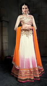 Off White Designer Wear Indian Punjabi Lehenga Choli In Net A16011